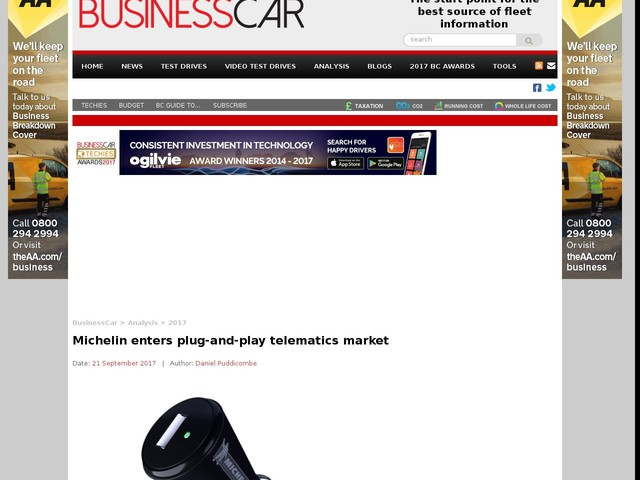Michelin enters plug-and-play telematics market