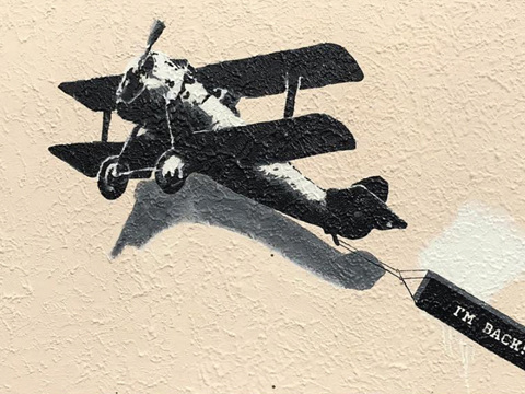 An Old Banksy Piece Has Mysteriously Reappeared In Its Original Spot