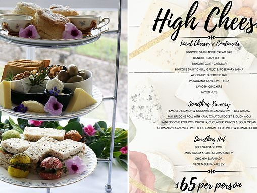 Forget high tea! You can now indulge in a $65 'high CHEESE' brunch