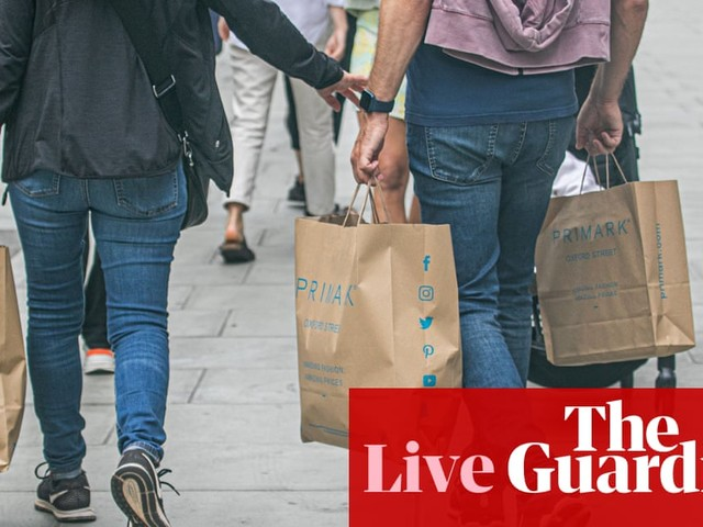 Retail sales fall as UK hospitality reopening hits food spending – business live