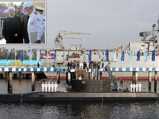 Iran launches its new 'cruise missile capable' submarine