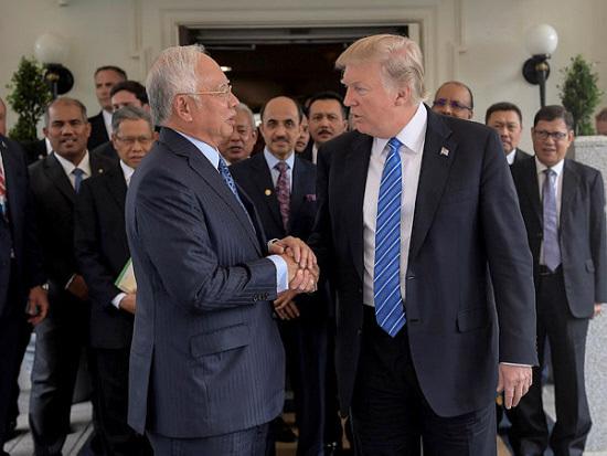 Najib – Trump: Friendly meeting at the White House