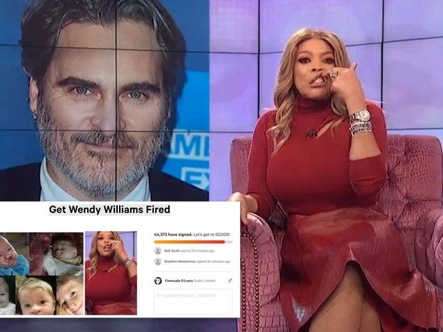 Wendy Williams under fire as nearly 50,000 fans sign petition to fire host after she mocks Joaquin Phoenix's cleft lip