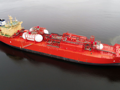 First conversion of a slow-speed marine diesel engine to operate on ethane as a fuel