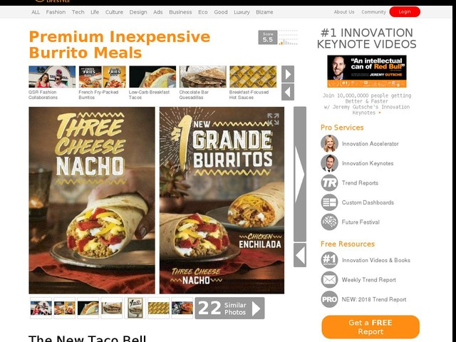 Premium Inexpensive Burrito Meals - The New Taco Bell Grande Burritos Cost Just $1 Each (TrendHunter.com)