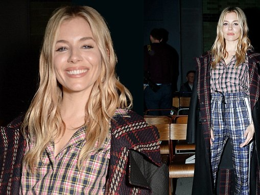 Sienna Miller makes stylish arrival at Burberry show