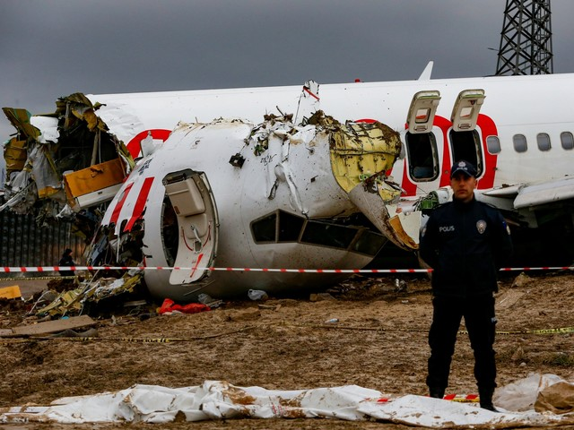 Pilot arrested after Pegasus Airlines plane skids off runway and splits into three