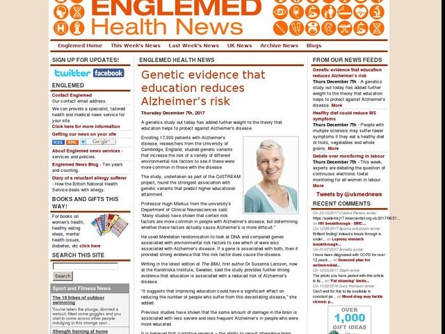 Genetic evidence that education reduces Alzheimer's risk