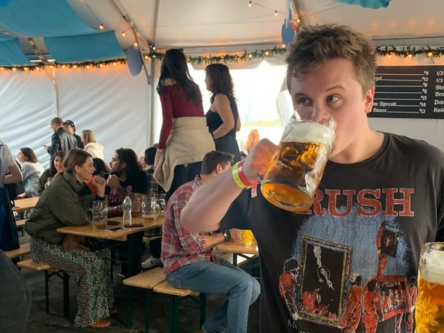 I went to the New York City Oktoberfest said to be the best outside of Munich, and I was not disappointed