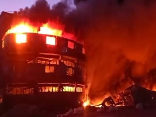 Massive Fire At Plastic Factory In Gujarat's Kutch, No Casualty