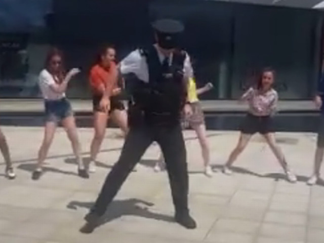 Watch brilliant moment PSNI officer has a dance off in Belfast