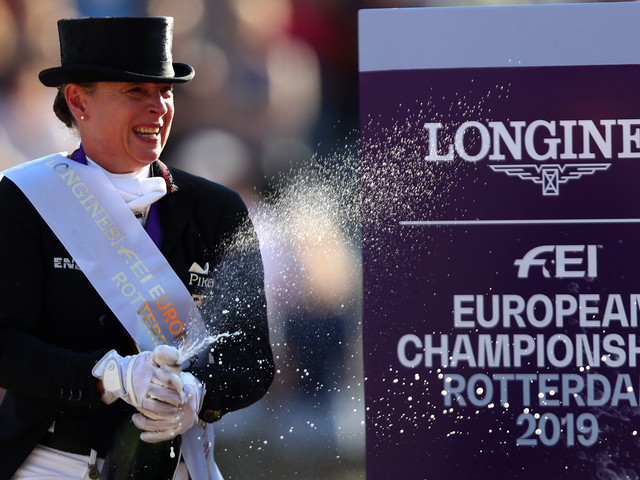 Werth defends freestyle dressage title at FEI European Championships