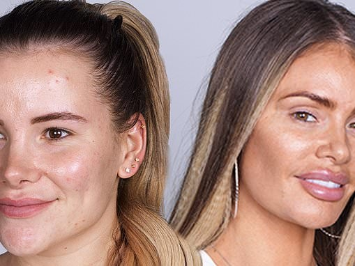 TOWIE's Georgia Kousoulou and Chloe Sims go make-up free with their glam co-stars
