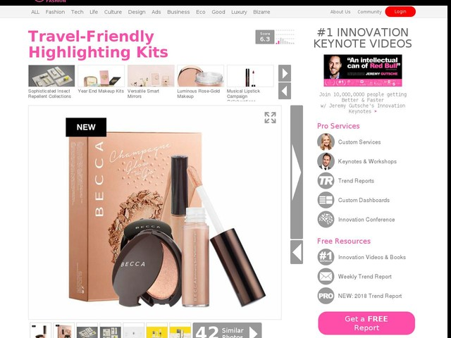 Travel-Friendly Highlighting Kits - BECCA's 'Glow on the Go' Kit Features Compact Products (TrendHunter.com)