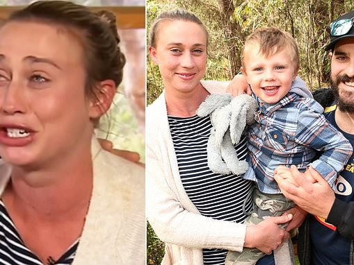 Western Australian mother breaks down reliving moment son was found in bushland after 12 hour search