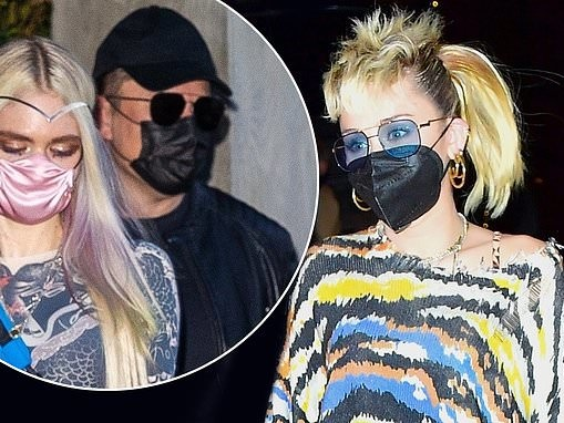 Miley Cyrus parties into the early hours with Elon Musk and Grimes at SNL afterparty