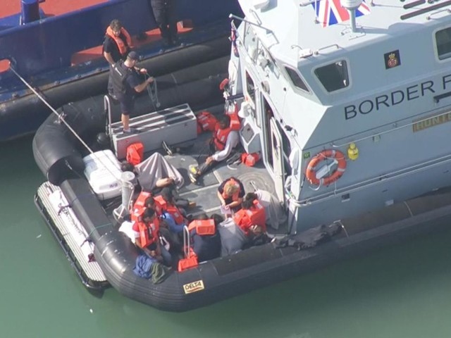 Migrants on boat intercepted off Dover coast