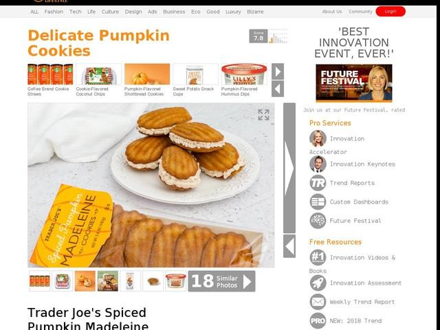 Delicate Pumpkin Cookies - Trader Joe's Spiced Pumpkin Madeleine Cookies are a Fancy Take on Pumpkin (TrendHunter.com)