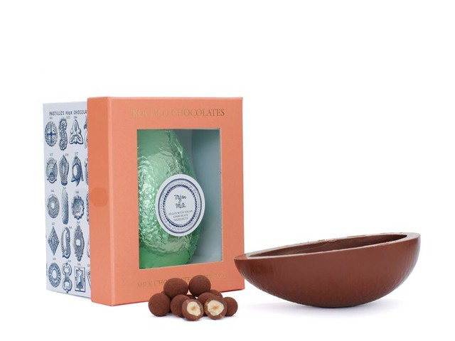 Diary-Free Hazelnut Easter Eggs - Rococo Chocolates' Vegan Milk Chocolate Egg is Diet-Friendly (TrendHunter.com)