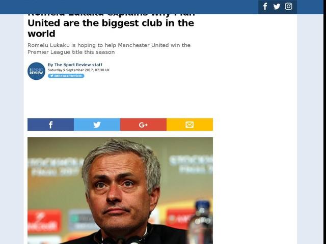 Romelu Lukaku explains why Man United are the biggest club in the world