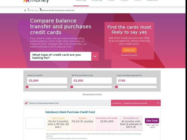 Top 10 Balance Transfer & Purchase Credit Cards - Compare 0% Deals | money.co.uk