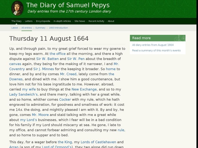 Thursday 11 August 1664