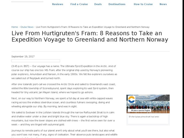 Live From Hurtigruten's Fram: 8 Reasons to Take an Expedition Voyage to Greenland and Northern Norway
