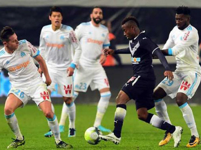 Last-gasp Marseille snatch draw at Bordeaux