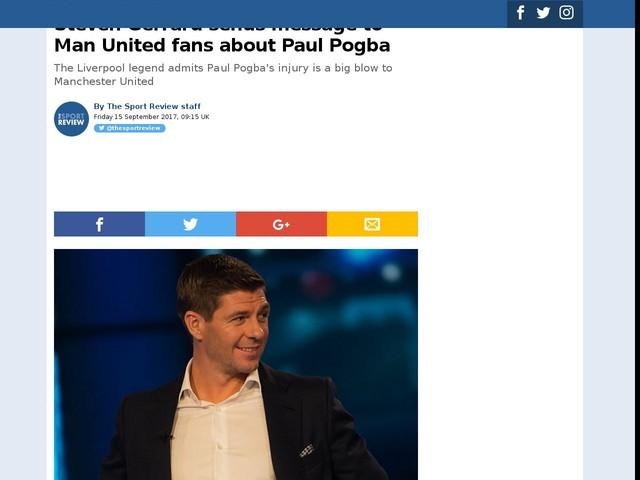 Steven Gerrard sends message to Man United fans about Paul Pogba
