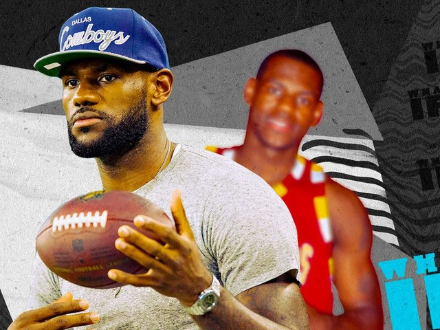LeBron James' alternate history as a football player, imagined by experts