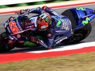 Vinales takes pole at San Marino after Marquez crashes