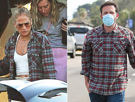 J.Lo Appears To Wear Ben Affleck's Plaid Shirt As She Arrives Back In L.A. With Twins, 13 — Pic