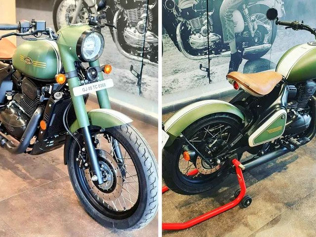 Jawa Dealership Offering A Custom Perak With Pine Green Paint Scheme