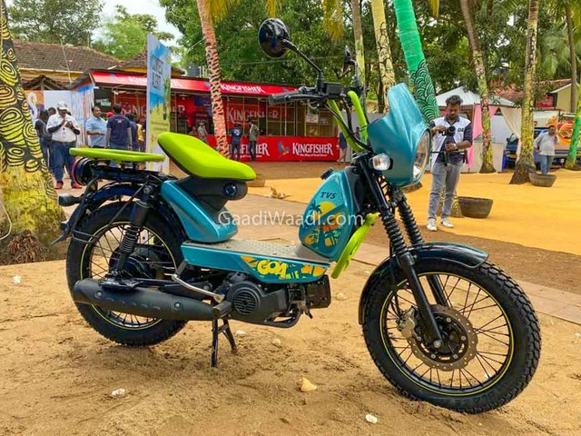 TVS XL100 Goa Edition Fits The Party Mood At 2019 Moto Soul