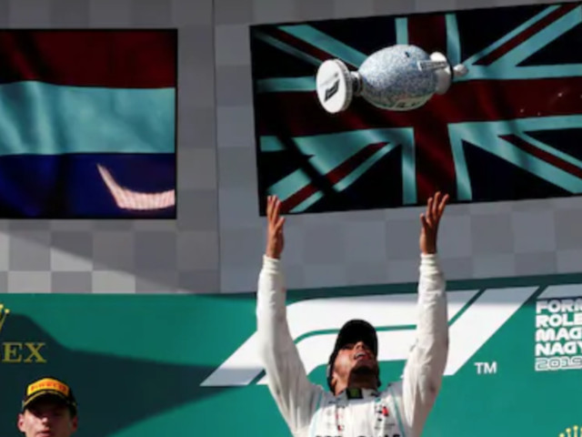 Lewis Hamilton Battles Past Max Verstappen for Hungarian GP Lead