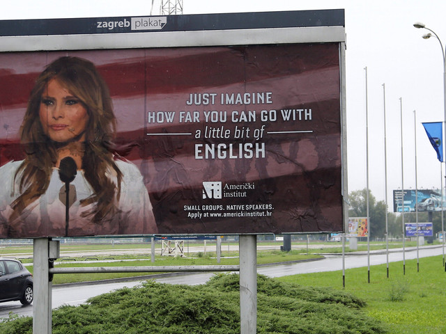Melania Trump Was Not Happy This School Plastered Her Face On A Billboard