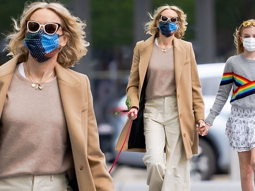 Naomi Watts enjoys walk with her children Sasha and Kai for Mother's Day in NYC
