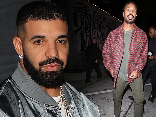 Drake puts on a dapper display as he heads out for dinner with pal Michael B. Jordan
