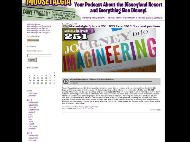 Mousetalgia Episode 251: D23 Expo 2013 floor and pavilions