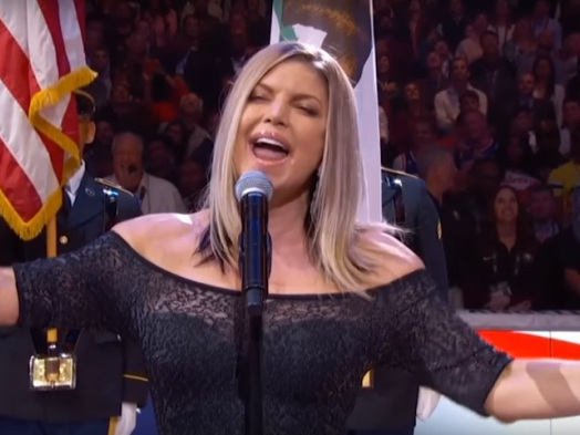 Fergie Sexes Up National Anthem at NBA All-Star Game and America Isn't Having It