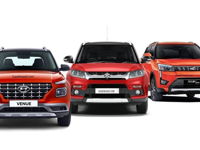 Hyundai Venue vs Maruti Vitara Brezza vs Mahindra XUV300 – Dimensions Comparison
