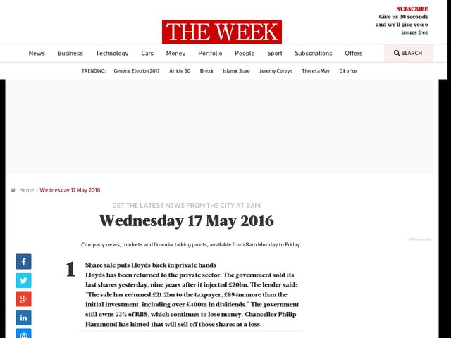 Wednesday 17 May 2016