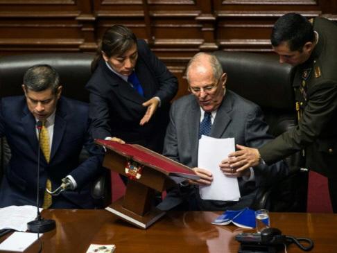 Peru's Kuczynski dodges impeachment, but is badly weakened