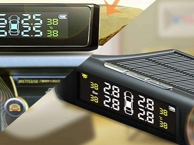 This Clever Gadget Brings TMPS to Any Car, Features Screen with Solar Charging