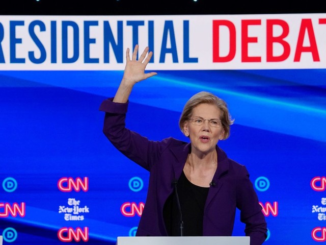 Warren attacked over healthcare spending during debate