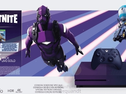 Microsoft will soon release a purple Fortnite Xbox One S, new leak reveals