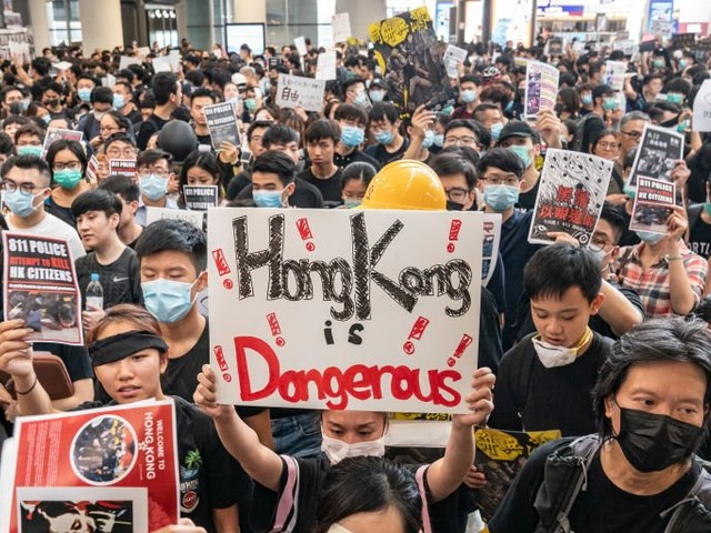 The raging protests in Hong Kong have its retail sector shrinking the most in history
