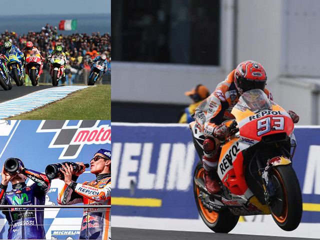 Marquez Stands Tall On Podium; Rossi And Viñales Finish Second And Third In Australian GP
