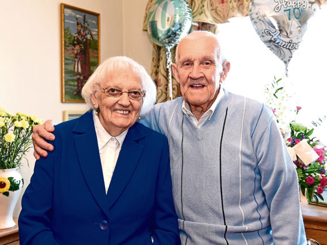 North-east couple, Dod and Olive, celebrate 70 years of married bliss