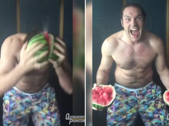 Watch Tyson Fury crack watermelon open with his HEAD and eat it in brilliant throwback video shared by Frank Warren